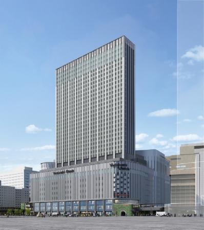 2020年初春開業予定 (仮称)ヨドバシ梅田タワー外観