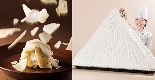 粉雪の口溶けビッグ・モンブラン※可食部は一部であり、その他はイミテーションです