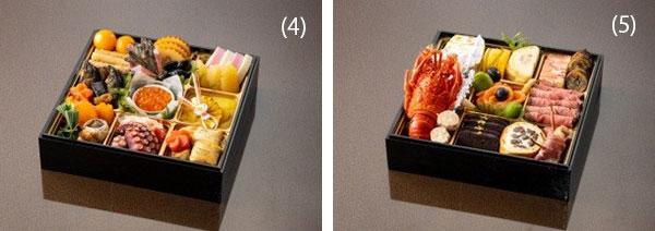 左から)「和食おせち一段重」、「洋食おせち一段重」