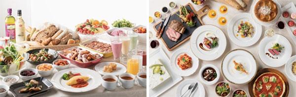 (左)朝食イメージ、(右)料理イメージ