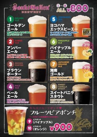 サンクトガーレンブースのビールメニュー