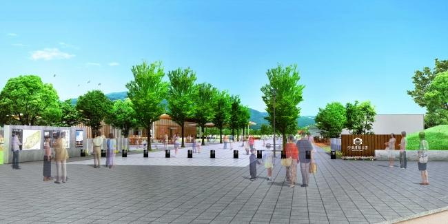 市民の憩いの場となる緑のオープンスペース