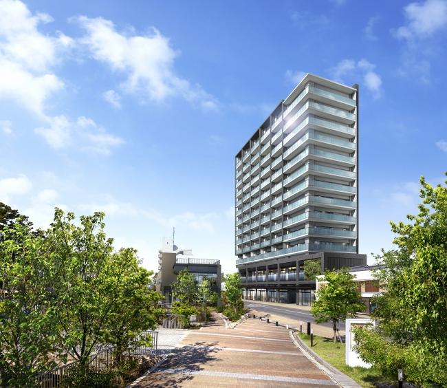「守山銀座ビル地区第一種市街地再開発ビル」外観パース