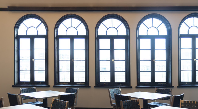 元大講義室の窓枠