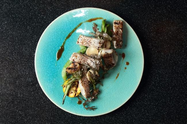 神奈川県産太刀魚の炙りとグリル野菜のサラダ仕立て ¥1,480