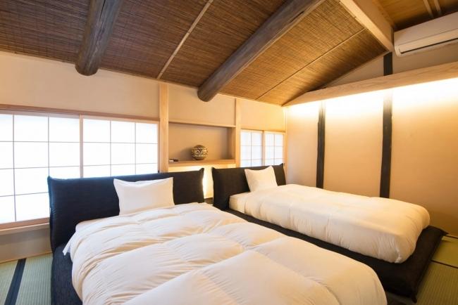 白虎邸のベッドルーム