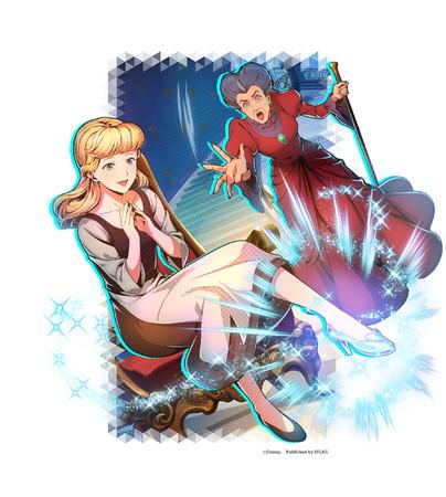 限定★5カード 「【真実は魔法の光に照らされて】 シンデレラ&トレメイン夫人」 (属性:クール)