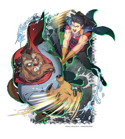 限定★5カード 「【雷とどろく雨中の決闘】野獣&ガストン」 (属性:ナチュラル)