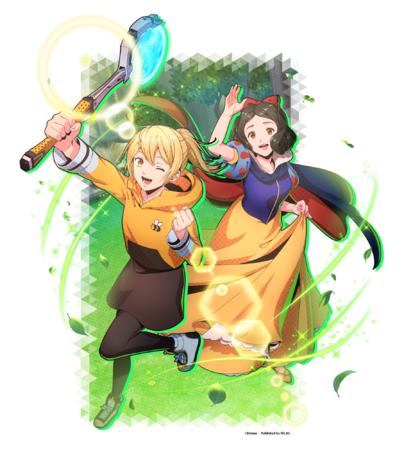 「【太陽に掲げる勝利のガッツポーズ】ジュリ&白雪姫」 (属性:ナチュラル)