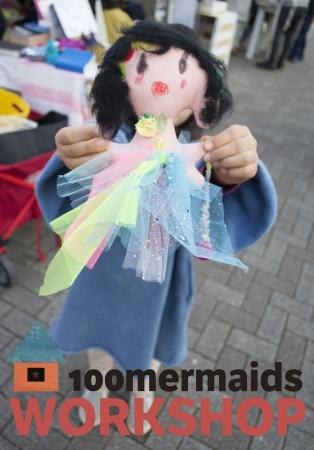 ▲100mermaids workshop ワークショップ