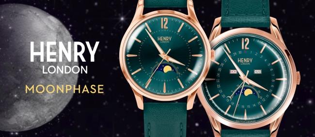 英国の腕時計ブランド「ヘンリーロンドン」、月の満ち欠けを表示する ...