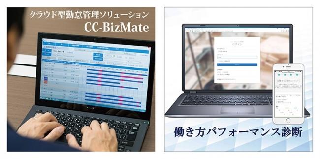 CC-BizMateと働き方パフォーマンス診断イメージ