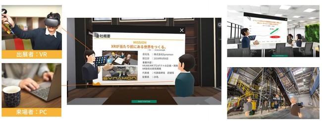 「NEUTRANS BIZ」ExhibitionHallイメージ4。個別相談ルーム(個社ブース)では資料や動画を自由に提示しながらの説明、360画像の共有も可能