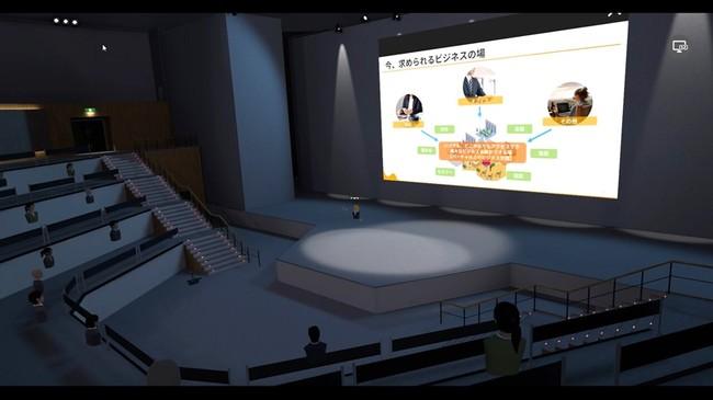 「NEUTRANS BIZ」OpenStageTheaterイメージ、大勢に情報を発信する場で活用できる