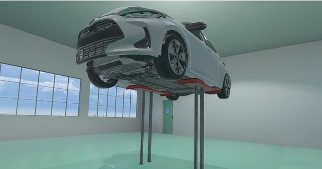 リフトアップされた事故車モデル