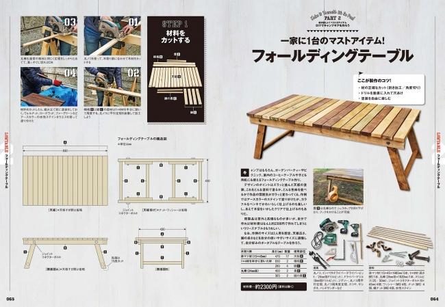 ▲ウッドのローテーブルは快適&おしゃれキャンプのマストアイテム。それが材料費2000円ちょっとで作れる!