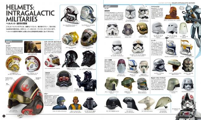▲宇宙軍、地上軍ごとにまとめられたヘルメット一覧。©&TM 2018 LUCASFILM LTD.