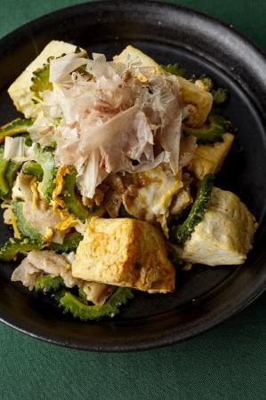 ▲豆腐とゴーヤのチャンプルー