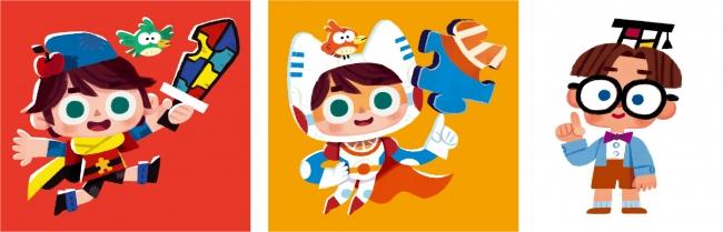 ▲表紙イラストはア・メリカ氏。ゲーム・広告・書籍・グッズで活躍中のイラストレーター。一番右は、東田はかせの分身キャラクター