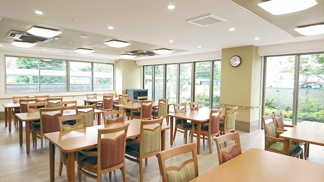 【共用食堂(イメージ)】 和食を中心に、管理栄養士監修の栄養バランスがとれた食事を1食からオーダーできます。