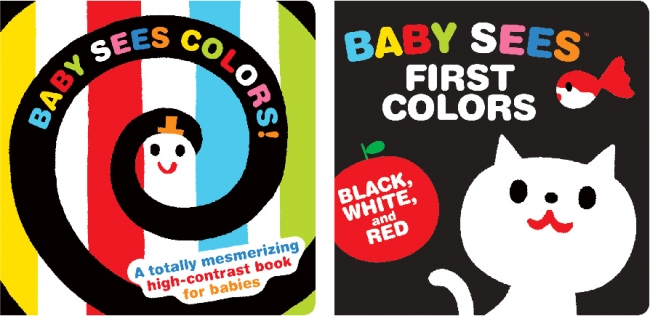 左:Baby Sees Colors!、右:Baby Sees First Colors Black, White & Red