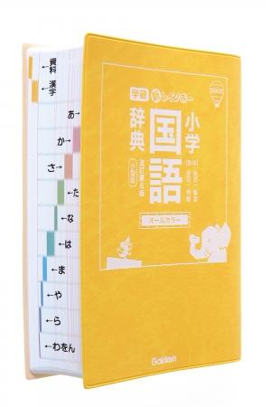 ▲国語辞典のインデックス。ひらがなの横に矢印もついているから、開くページがわかりやすい。