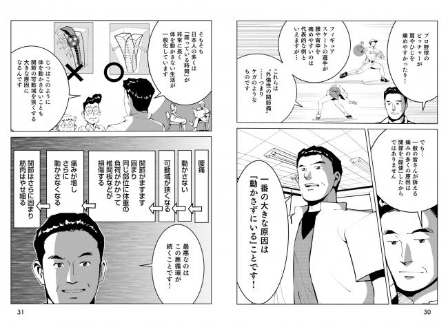 ↑酒井先生が語りかけてくるような感じで、腰痛持ちにとって目からウロコの解説が続きます。