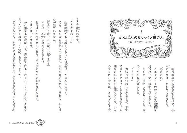 各章、おいしそうなパンと、季節の植物のすてきなイラストではじまります。