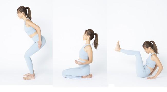 浅くても OK のスクワット、座って肩甲骨を寄せるだけなど、「運動が苦手」「ものすごく久々に運動する」大人女子もできる動作!
