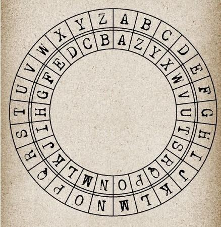 見た目もかっこいい、アルファベット暗号盤。