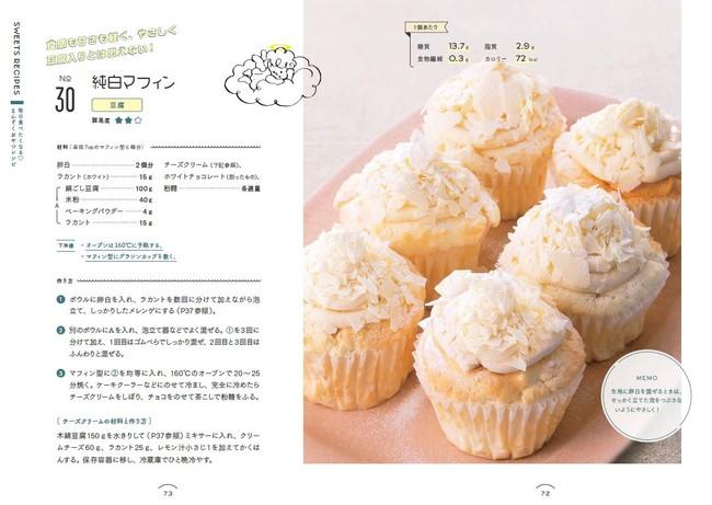 クリームたっぷりのカップケーキも、AYAレシピなら1個たったの72kcal。糖質、脂質も控えめでダイエット中でも安心。