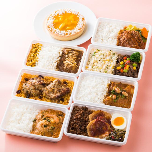 台湾の叉焼肉飯やタイのマッサマンカレーなどアジアグルメがずらり
