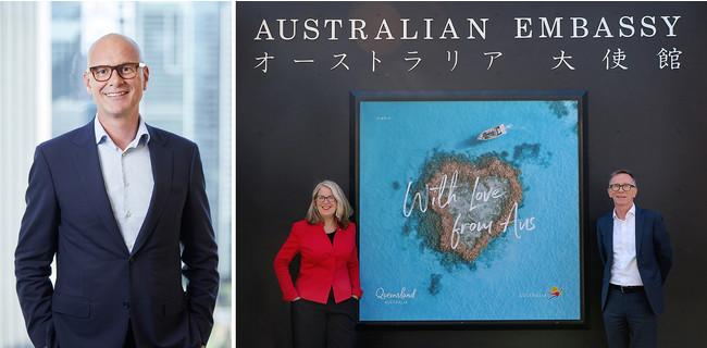 オーストラリア政府観光局 アンドリュー・ホグ氏(右)With Love from Australia©オーストラリア政府観光局