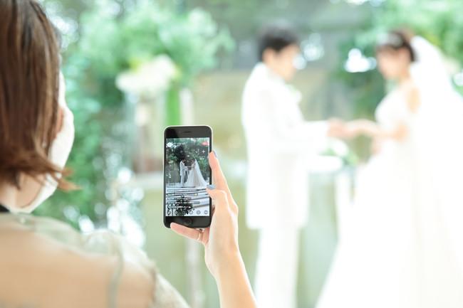 ▲(株)17 Media Japanとコラボした結婚式ライブ配信