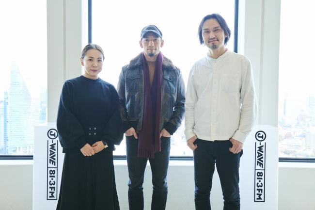 左から永山祐子さん(建築家)、中田英寿さん(元サッカー日本代表)、生江史伸さん(シェフ)