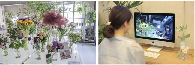 左:Lifft Concept Shop店内 右:オンライン接客風景