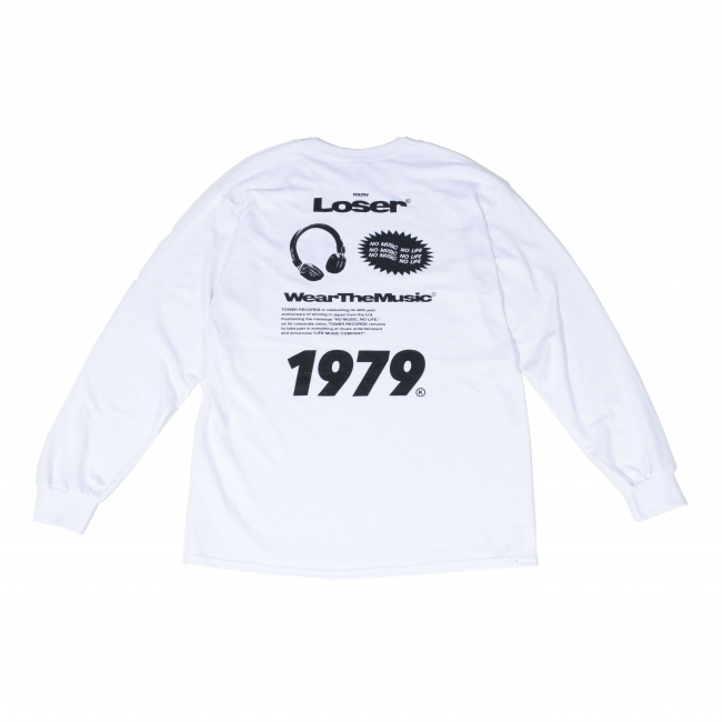 Youth Loser × WEARTHEMUSIC LONG T-SHIRTS(WHITE)BACK