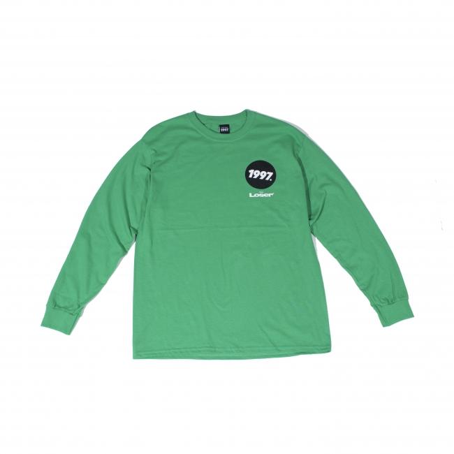 青年失败者长T恤(爱尔兰绿色)前面