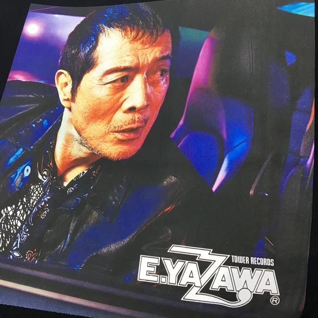矢沢永吉 × TOWER RECORDS T-shirt ブラック(プリント部分)