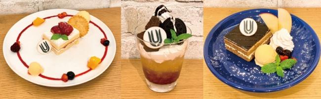 (左から)ガリレオのショートケーキ、フラッペソング、シグナルABC