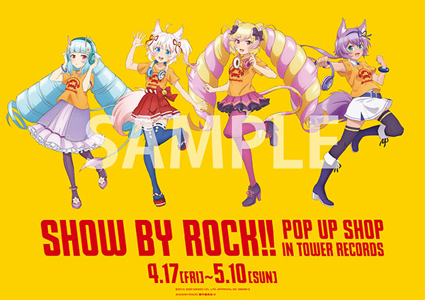 「SHOW BY ROCK!! POP UP SHOP in TOWER RECORDS」