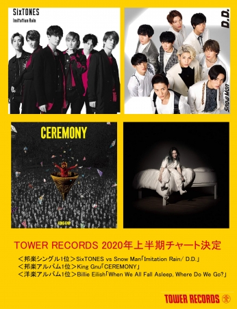TOWER RECORDS 2020年上半期チャート