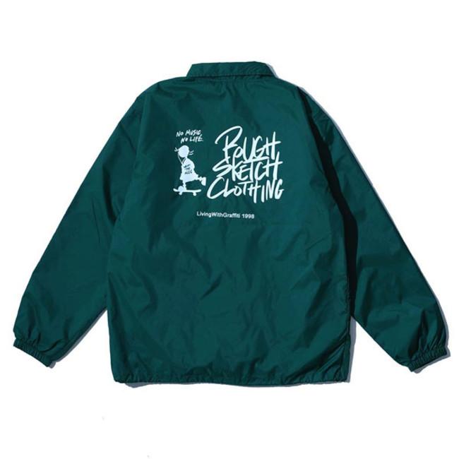 RSC × WTM Nylon Coach Jacket Green(BACK)