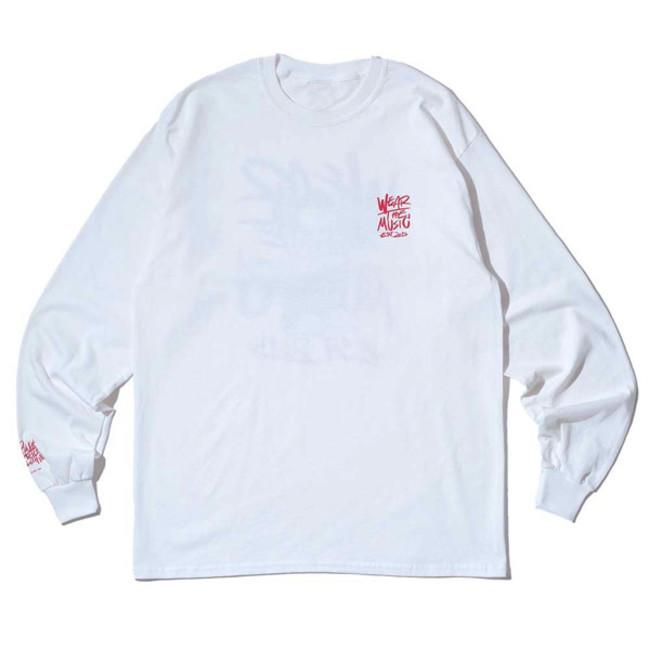 RSC × WTM L/S T-shirt White(FRONT)
