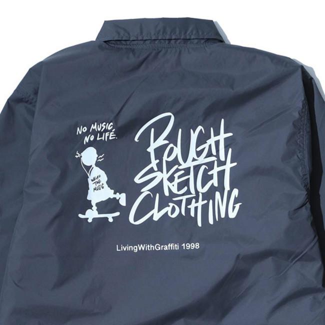 RSC × WTM Nylon Coach Jacket Gray(BACK PRINT)