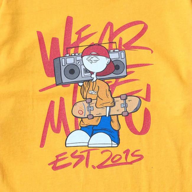 RSC × WTM L/S T-shirt Yellow(BACK PRINT)