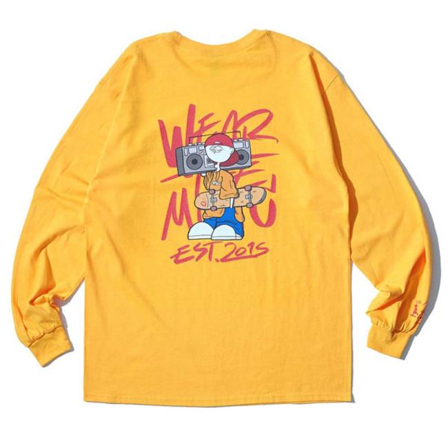 RSC × WTM L/S T-shirt Yellow(BACK)