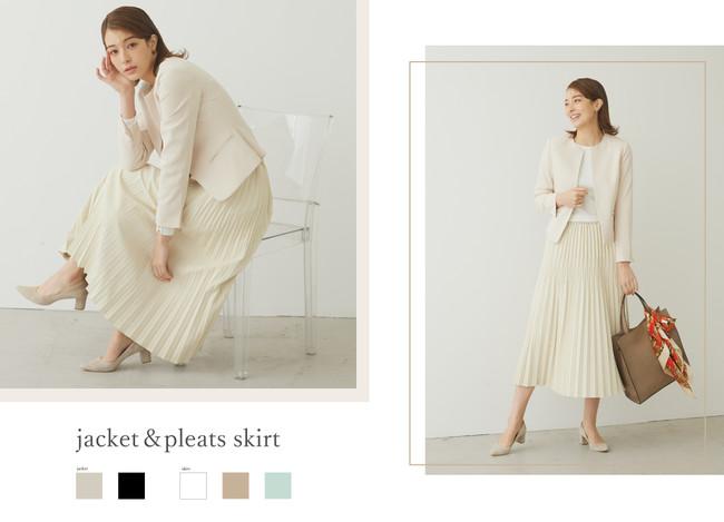 jacket ¥13,000+tax skirt ¥8,000+tax
