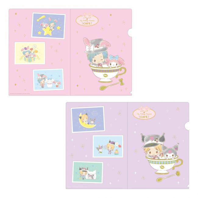 『LIP×LIP × My Melody・Kuromi CAFE』クリアファイルセット