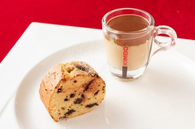 ヴィンコット風味のクレミーノ チョコレートとアマレーナ入りマスカルポーネ風味のパウンドケーキ